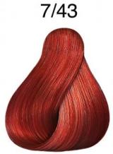 Wella Koleston Perfect barva 7/43 středně blond měděná zlatá 60ml