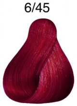 Wella Koleston Perfect barva 6/45 tmavá blond měděná mahagonová 60ml