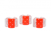 Linziclip Malý skřipec MINI 3 ks - oranžový s puntíky