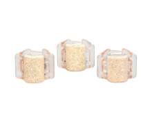 Linziclip Malý skřipec MINI 3 ks - perleťově béžový se třpytkami