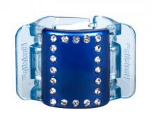 Linziclip Střední skřipec MIDI - modrý s krystalky
