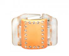 Linziclip Střední skřipec MIDI - perleťově broskvový s krystalky