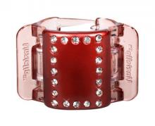 Linziclip Střední skřipec MIDI - perleťově vínový s krystalky