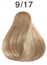 Wella Koleston Perfect barva 9/17 velmi světlá blond popelavá hnědá 60ml